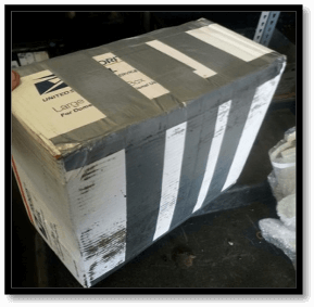 Proper small box parcel shipment to DieselCore